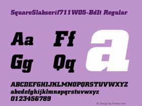 SquareSlabserif711W05-BdIt