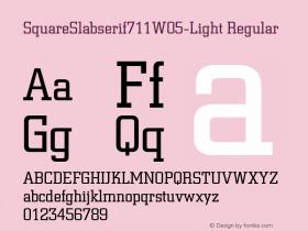 SquareSlabserif711W05-Light