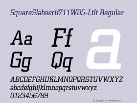 SquareSlabserif711W05-LtIt