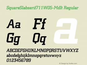 SquareSlabserif711W05-MdIt
