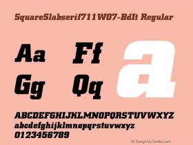 SquareSlabserif711W07-BdIt