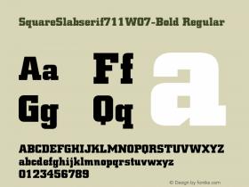 SquareSlabserif711W07-Bold