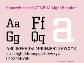 SquareSlabserif711W07-Light