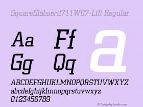 SquareSlabserif711W07-LtIt
