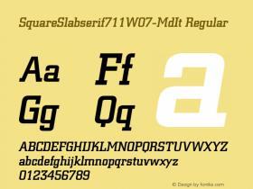 SquareSlabserif711W07-MdIt