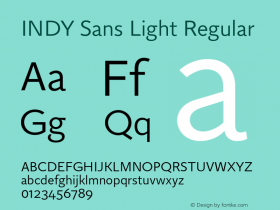 INDY Sans Light