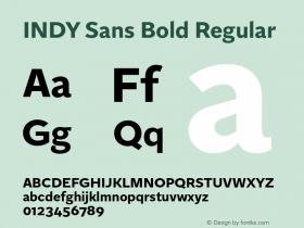 INDY Sans Bold