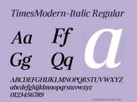 TimesModern-Italic
