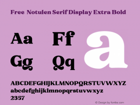 Free - Notulen Serif Display