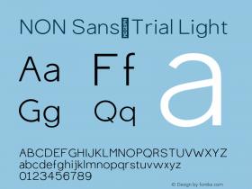 NON Sans_Trial
