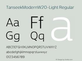 TanseekModernW20-Light