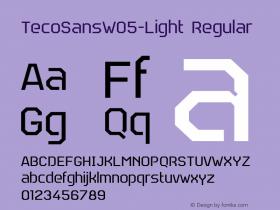 TecoSansW05-Light