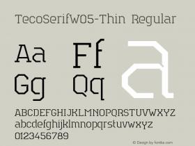 TecoSerifW05-Thin