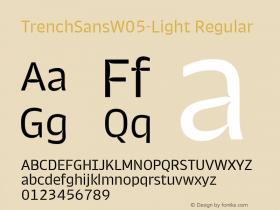 TrenchSansW05-Light
