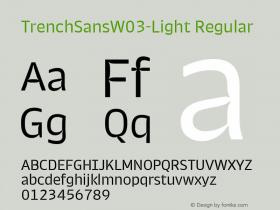 TrenchSansW03-Light