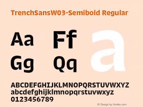 TrenchSansW03-Semibold
