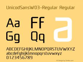 UnicodSansW03-Regular