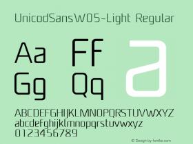 UnicodSansW05-Light