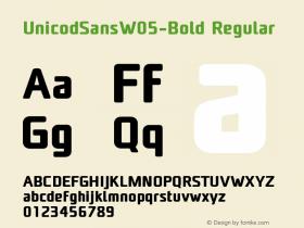 UnicodSansW05-Bold