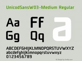 UnicodSansW03-Medium