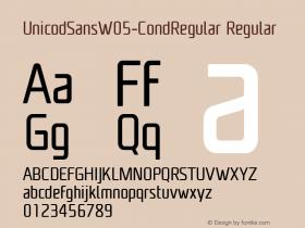 UnicodSansW05-CondRegular