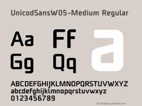 UnicodSansW05-Medium