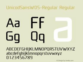 UnicodSansW05-Regular