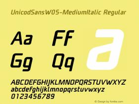 UnicodSansW05-MediumItalic