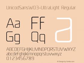 UnicodSansW03-UltraLight