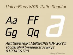 UnicodSansW05-Italic