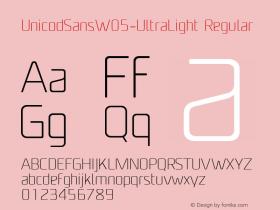 UnicodSansW05-UltraLight