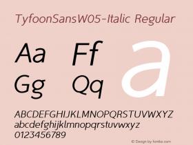 TyfoonSansW05-Italic