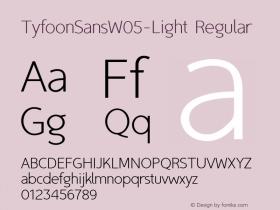 TyfoonSansW05-Light