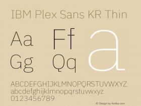 IBM Plex Sans KR