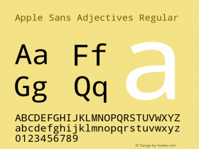 Apple Sans Adjectives