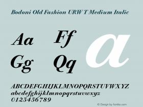 Bodoni Old Fashion URW T