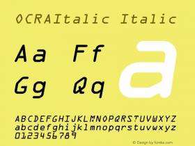 OCRAItalic