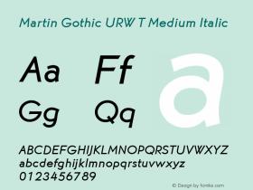 Martin Gothic URW T
