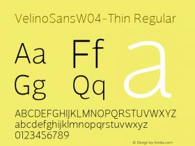 VelinoSansW04-Thin