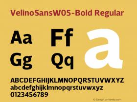 VelinoSansW05-Bold