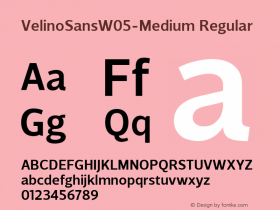 VelinoSansW05-Medium