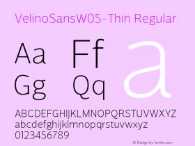 VelinoSansW05-Thin