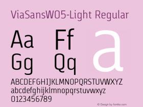 ViaSansW05-Light