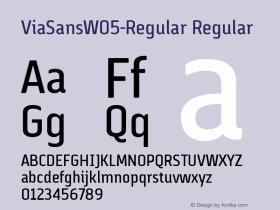 ViaSansW05-Regular