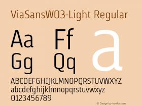 ViaSansW03-Light