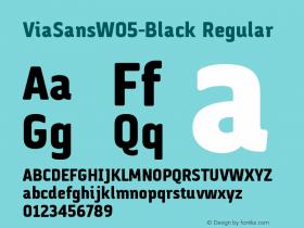 ViaSansW05-Black
