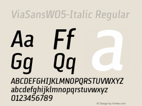 ViaSansW05-Italic