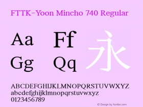FTTK-Yoon Mincho 740
