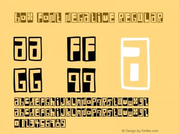 Box Font Negative