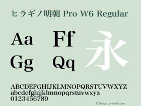 ヒラギノ明朝 Pro W6